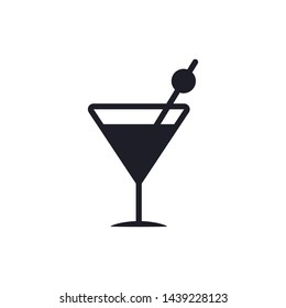 Cocktail Icon Vector Illustration Eps