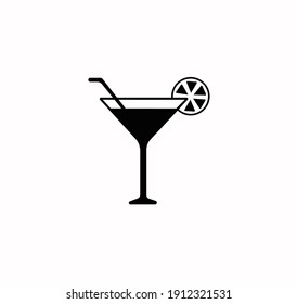 Cocktail icon vector on a white background