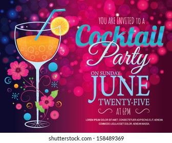 Party Invitation Card Background Stock Illustrations Images
