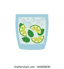 cocktail lemon drink alcohol glass beverage icon. Isolated and flat illustration. Vector graphic