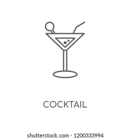 Cocktail linear icon. Cocktail concept stroke symbol design. Thin graphic elements vector illustration, outline pattern on a white background, eps 10.