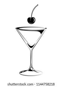 cocktail martini cherry