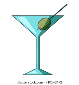 Cocktail olive icon. Cartoon illustration of cocktail olive vector icon for web