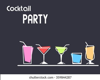 Cocktail party concept with copy space.