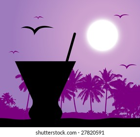 Cocktail party on the beach