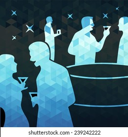 cocktail party. vector illustration