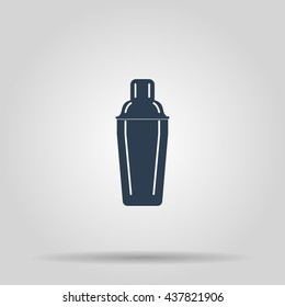 Cocktail shaker icon. Concept illustration for design.