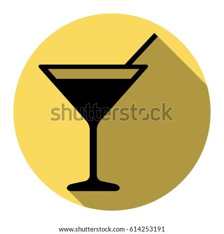 3f6410af7e Cocktail Sign Illustration Vector Flat Black Stock Vector (Royalty ...