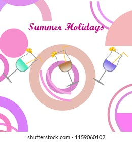 cocktail summer holiday vector background