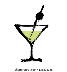 Cocktail. Vector.