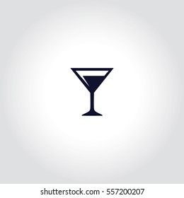 Cocktail Vector Icon.