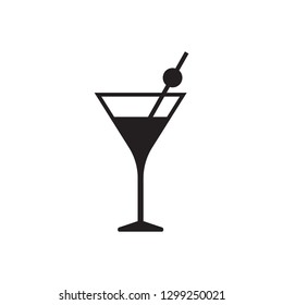 Cocktail vector icon, drink icon