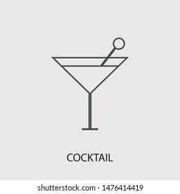 Cocktail vector icon illustration sign