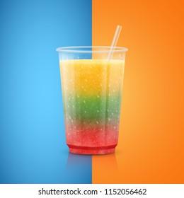 Cocktail vector illustration. Fruit smoothie.