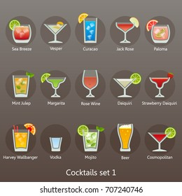 Cocktails set 1