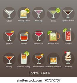 Cocktails set 4
