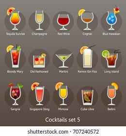 Cocktails set 5