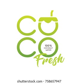 Coco Fresh : Coconut Water Drink logo design