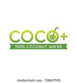Coco plus : Coconut Water Drink logo design
