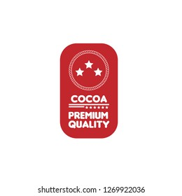 COCOA premium quality emblem, label, badge,sticker. premium quality package label. vintage stamp. designed for COCOA product