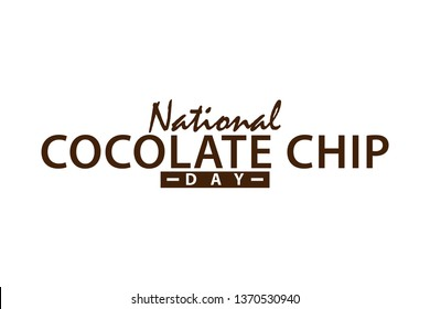 COCOLATE CHIP DAY VECTOR ILLUSTRATION