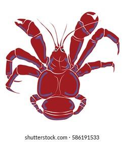 Coconut Crab illustration