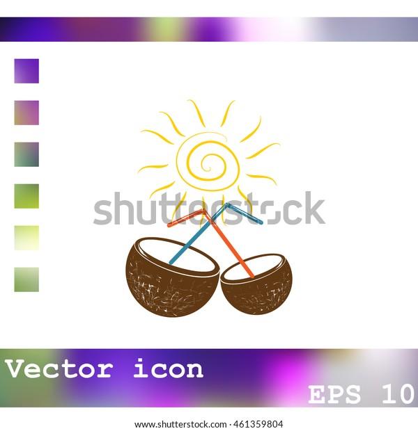 Coconut cup icon