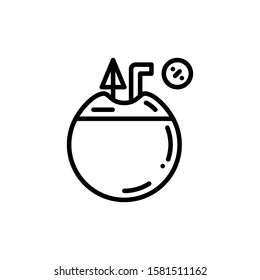 Coconut Drink Icon Outline Vector. Holiday Sale Icons. Online Shop Ikon.