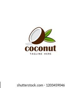 coconut logo template design vector