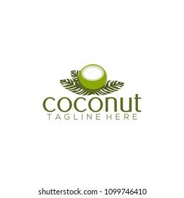 Coconut logo vector. Coconut logo template