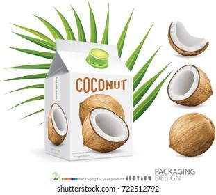 Coconut Milk Box.illustration