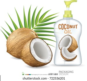 Coconut Oil Bottle Skin Care.illustration
