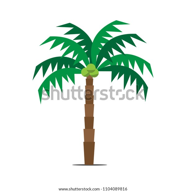 Coconut tree in flat style.Vector illustration.