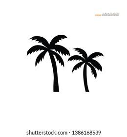 coconut  tree icon on white background.vector illustration.eps10.