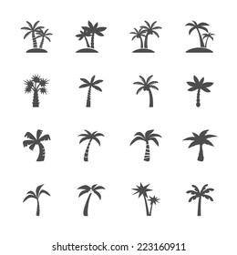 coconut tree icon set, vector eps10.