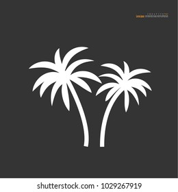 coconut tree icon.vector illustration.eps10.