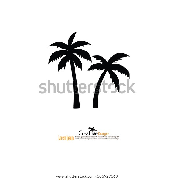 кокосовое дерево иконо.вектор иллюстрации.eps10.
