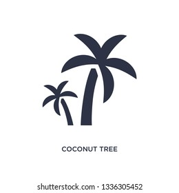 coconut tree isolated icon. Simple element illustration from ecology concept. coconut tree editable logo symbol design on white background. Can be use for web and mobile.