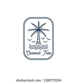 Coconut tree mono line design inspiration