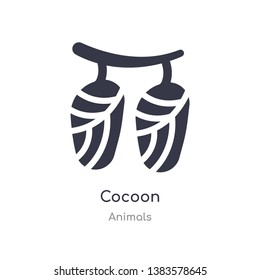 cocoon icon. isolated cocoon icon vector illustration from animals collection. editable sing symbol can be use for web site and mobile app