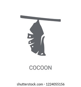 Cocoon icon. Trendy Cocoon logo concept on white background from animals collection. Suitable for use on web apps, mobile apps and print media.