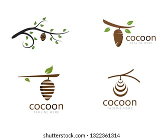 Cocoon logo template vector icon illustration design