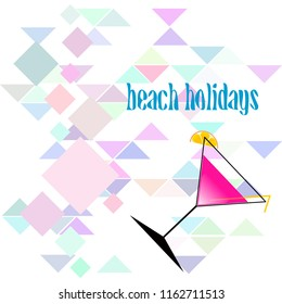 coctail summer holiday vector background