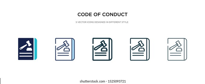code of conduct icon in different style vector illustration. two colored and black code of conduct vector icons designed in filled, outline, line and stroke style can be used for web, mobile, ui
