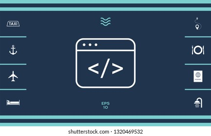 Code editor icon. Graphic elements for your design
