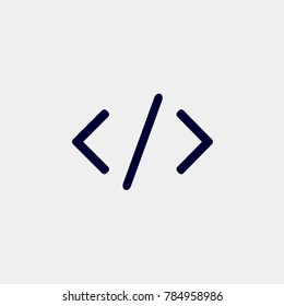 code icon, Vector illustration. programming icon vector