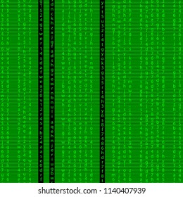 code pattern .  green programming code seamless pattern background . matrix screen effect binary code numbers repeatable tile design