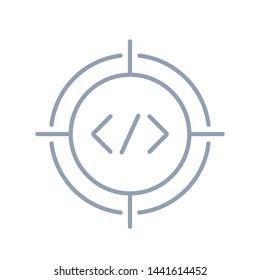 Code Target Logo Icon Design - Vector