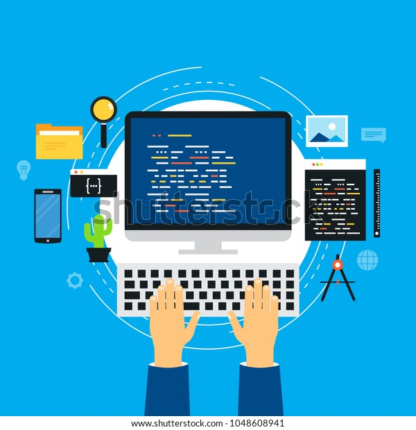 Coding Programming Website Application Development Technology Stock