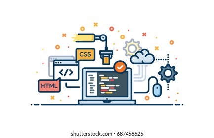 Coding vector illustration